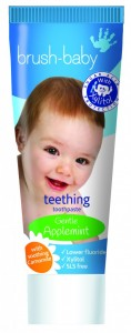 Teething toothpaste image with Camomile Applemint flavour (2)